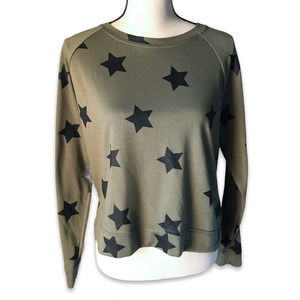 For The Republic army green stars long sleeve top